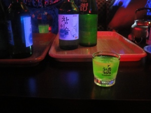 Green glowing SHOTS