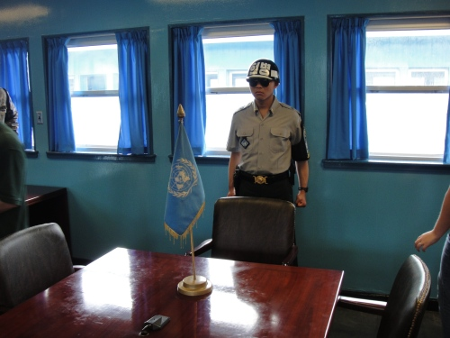 ROK Ready Soldier, as seen from the North Korean side of the table