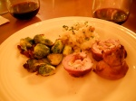 Bacon-Wrapped Pork Loin Stuffed with Feta and Fruit