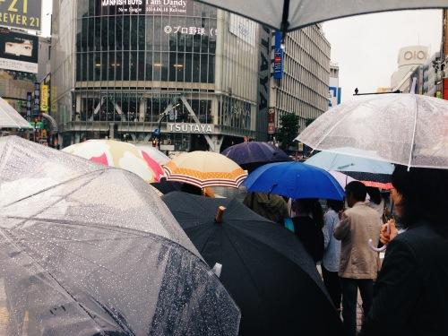 Shibuya Crossing on a Rainy Day, Tokyo, 2014