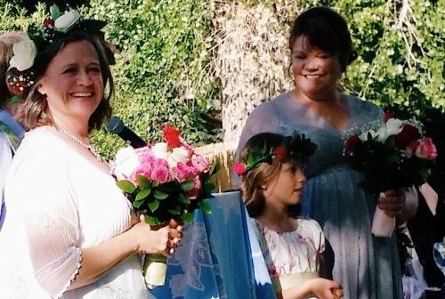 Beth, Rosie and Mom: Wedding Day